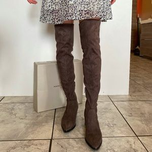 NEW Marc Fisher Yakira Over The Knee Boots Grey 7